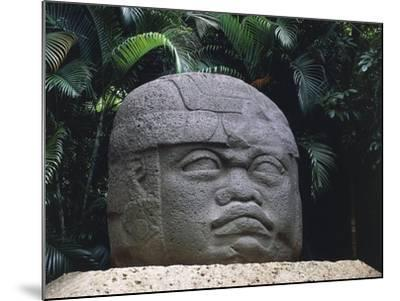 Olmec Civilization, Colossal Stone Head of a Warrior, 1100-475 B.C.--Mounted Giclee Print