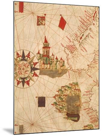 Detail of Venice and Genoa, from Navigational Map, Plate, 16th Century--Mounted Giclee Print