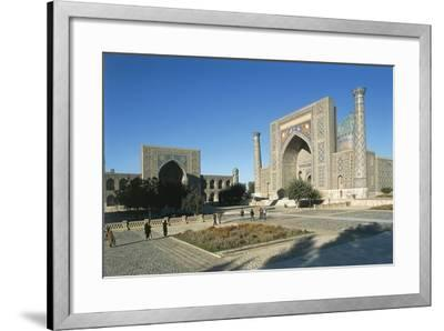 Uzbekistan, Samarkand, Registan Square--Framed Giclee Print
