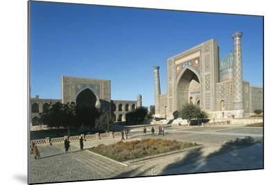 Uzbekistan, Samarkand, Registan Square--Mounted Giclee Print
