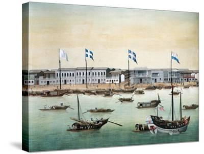 Diplomatic Headquarters in Canton, 1767--Stretched Canvas Print