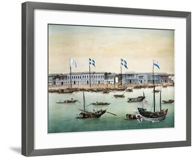 Diplomatic Headquarters in Canton, 1767--Framed Giclee Print
