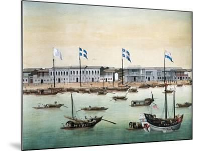 Diplomatic Headquarters in Canton, 1767--Mounted Giclee Print