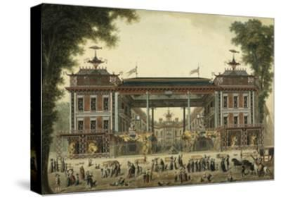The Chinese Baths and Boulevard Des Italiens--Stretched Canvas Print