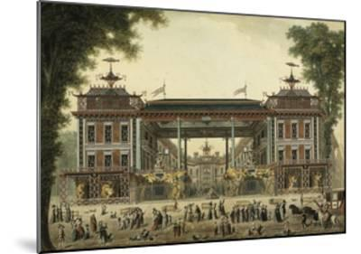The Chinese Baths and Boulevard Des Italiens--Mounted Giclee Print