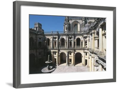 Portugal, Tomar, Convent of Order of Christ, Cloister--Framed Giclee Print