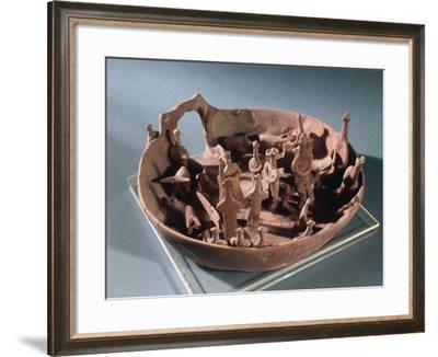 Clay Manufacture Representing Sacred Pit, from Vounous--Framed Giclee Print