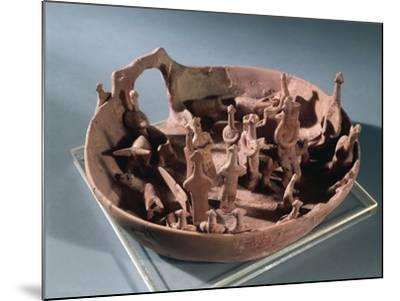 Clay Manufacture Representing Sacred Pit, from Vounous--Mounted Giclee Print