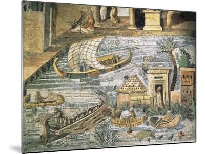 Italy, Lazio, Palestrina, Sanctuary at Praeneste, Depicting a Sailing Scene Along the Nile--Mounted Giclee Print