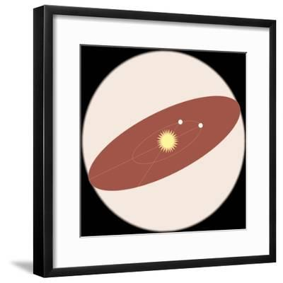 Solar System, Apparent Solar Motion, Astronomy Diagram--Framed Giclee Print