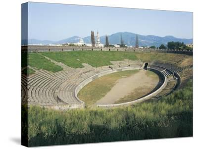 Italy, Campania Region, Pompei, Amphitheatre--Stretched Canvas Print