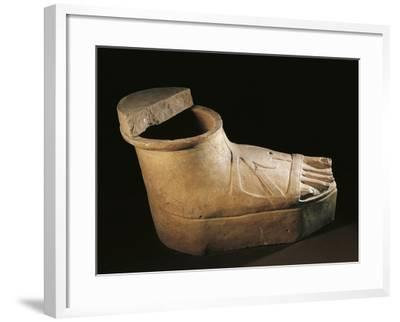 Italy, Calabria, Sarcophagus in the Shape of a Feet Wearing a Buskin, Terracotta--Framed Giclee Print