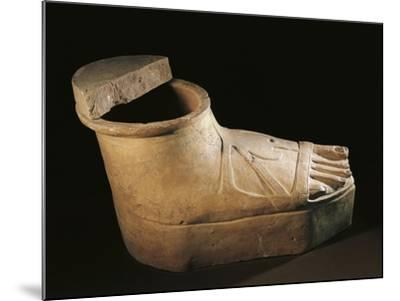 Italy, Calabria, Sarcophagus in the Shape of a Feet Wearing a Buskin, Terracotta--Mounted Giclee Print