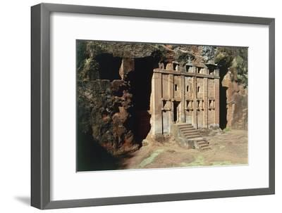 Ethiopia, Lalibela, Rock-Hewn Churches, Abba Libanos Church--Framed Giclee Print