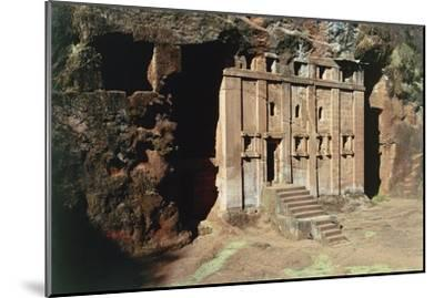 Ethiopia, Lalibela, Rock-Hewn Churches, Abba Libanos Church--Mounted Giclee Print