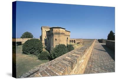 Italy, Emilia-Romagna Region, Castle Malatestiana in Cesena--Stretched Canvas Print