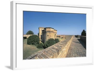 Italy, Emilia-Romagna Region, Castle Malatestiana in Cesena--Framed Giclee Print