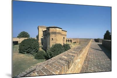 Italy, Emilia-Romagna Region, Castle Malatestiana in Cesena--Mounted Giclee Print