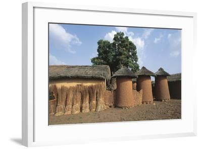 Côte D'Ivoire - Northern Senufo Area. Cylinder Granaries at Nawalakaha--Framed Giclee Print