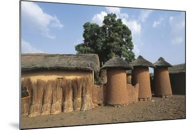 Côte D'Ivoire - Northern Senufo Area. Cylinder Granaries at Nawalakaha--Mounted Giclee Print