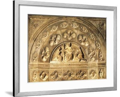 Italy, Milan Cathedral, Blessing Redeemer, Lunette from Above Entrance to Northern Sacristy--Framed Giclee Print