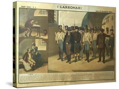 Carbonari Silvio Pellico Writing from Prison, My Imprisonment--Stretched Canvas Print