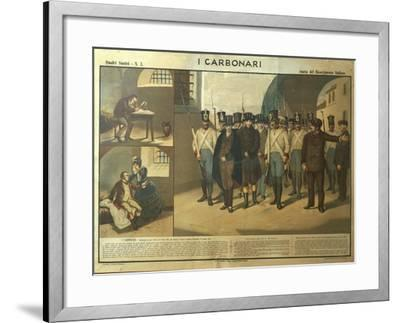 Carbonari Silvio Pellico Writing from Prison, My Imprisonment--Framed Giclee Print