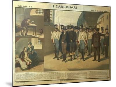 Carbonari Silvio Pellico Writing from Prison, My Imprisonment--Mounted Giclee Print
