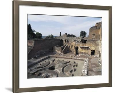 Italy, Latium Region, Rome, Palace of Domitian on Palatine Hill--Framed Giclee Print