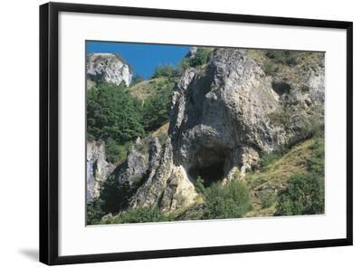 Italy, Piedmont Region, Stura Valley, Prehistoric Caves Near Aisone, Cuneo Province, Entrance--Framed Giclee Print