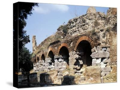 Italy, Campania Region, Napoli Province, Pozzuoli, Ruins of Flavian Amphitheater--Stretched Canvas Print