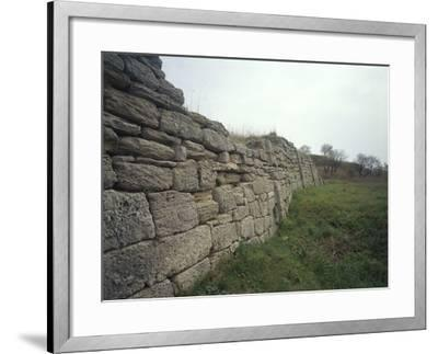 Turkey, Canakkale Province, Troy, Archaeological Site, Ramparts of Troy V--Framed Giclee Print