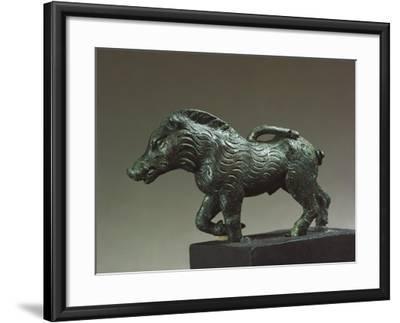 Italy, Emilia-Romagna, Velleia, Statuette Representing a Wild Boar, Bronze--Framed Giclee Print