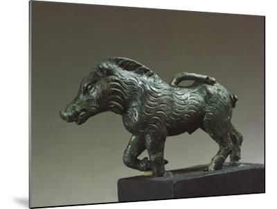 Italy, Emilia-Romagna, Velleia, Statuette Representing a Wild Boar, Bronze--Mounted Giclee Print