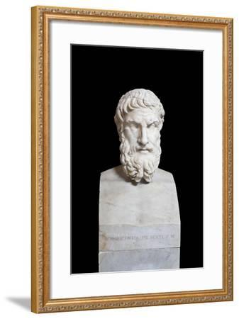Portrait of Epicurus, Second Century Ad, Vatican Museums, Rome, Italy--Framed Giclee Print