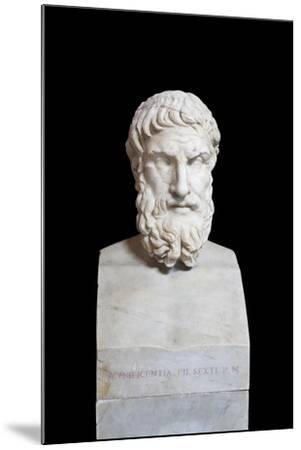 Portrait of Epicurus, Second Century Ad, Vatican Museums, Rome, Italy--Mounted Giclee Print