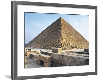 Egypt, Giza, Giza Pyramids, Kheops Pyramid and Tombs of Princes.--Framed Giclee Print