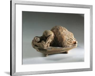 Terracotta Figure known as Sleeping Lady, from Hal Saflieni Hypogeum--Framed Giclee Print