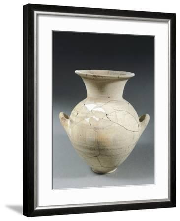 Clay Two-Handled Amphora, Italy, 8th Century BC--Framed Giclee Print