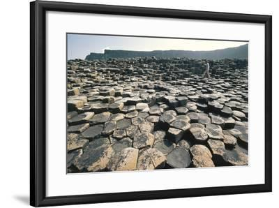 UK, Northern Ireland, County Antrim, Giant's Causeway, Basaltic Prisms--Framed Giclee Print