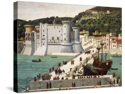 Aragonese Fleet Returning to Naples Victorious after the Battle of Ischia July 12, 1468--Stretched Canvas Print