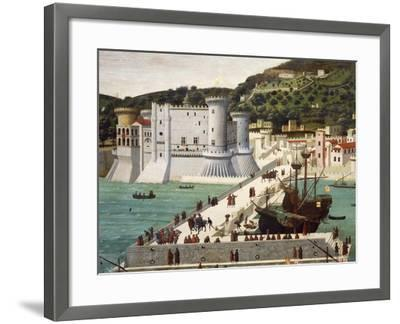 Aragonese Fleet Returning to Naples Victorious after the Battle of Ischia July 12, 1468--Framed Giclee Print