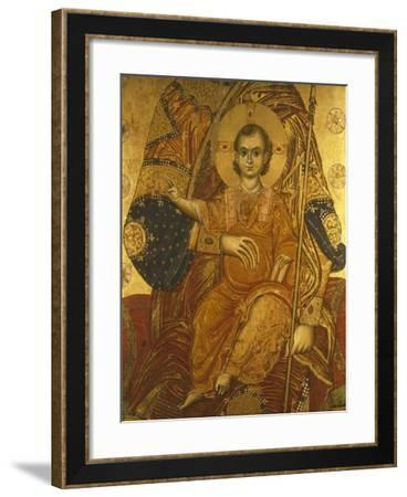 The Child Jesus, Detail from the Panel of Santa Maria De Flumine, 13th Century--Framed Giclee Print