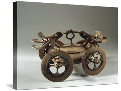 Romania, Bujoru, Ritual Chariot, Bronze--Stretched Canvas Print