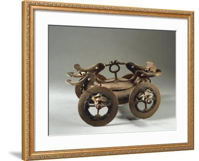 Romania, Bujoru, Ritual Chariot, Bronze--Framed Giclee Print