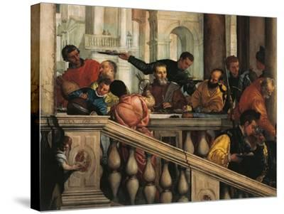 Italy, Venice, Feast in House of Levi, Guests--Stretched Canvas Print