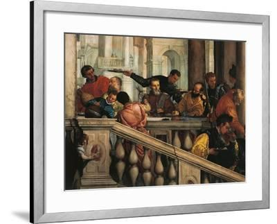 Italy, Venice, Feast in House of Levi, Guests--Framed Giclee Print