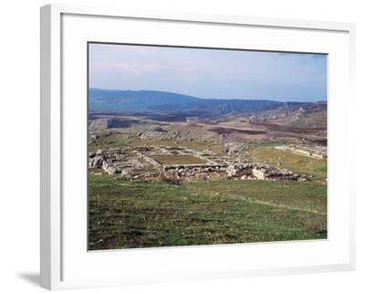 Turkey, View of Hattusa, Ancient Capital of Hittite Empire--Framed Giclee Print