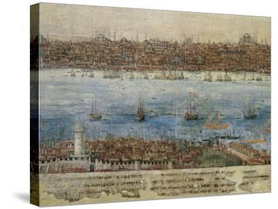 View of Constantinople--Stretched Canvas Print
