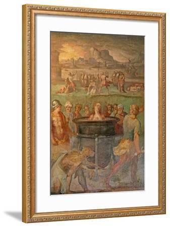 A Female Saint Is Boiled Alive--Framed Giclee Print